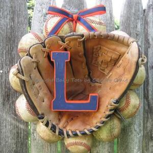 The Original Baseball Wreath - With..